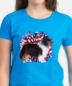 Sheltie Patriotic Tee