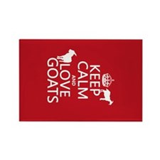 Keep Calm and Love Goats Magnets