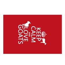 Keep Calm and Love Goats Postcards (Package of 8)