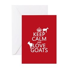 Keep Calm and Love Goats Greeting Cards