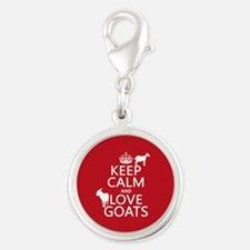 Keep Calm and Love Goats Charms