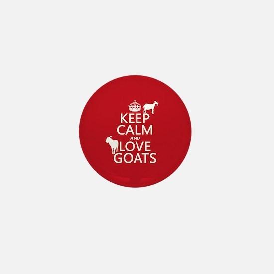 Keep Calm and Love Goats Mini Button