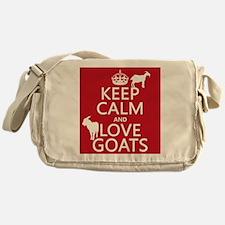 Keep Calm and Love Goats Messenger Bag