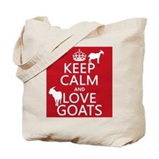 Keep Calm and Love Goats Tote Bag