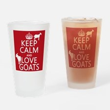 Keep Calm and Love Goats Drinking Glass