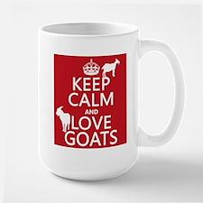 Keep Calm and Love Goats Mugs