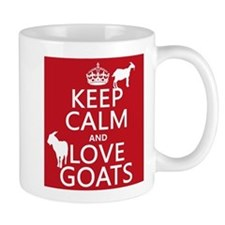 Keep Calm and Love Goats Mugs