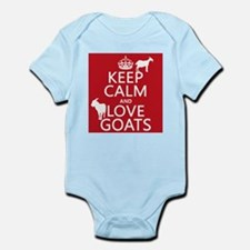 Keep Calm and Love Goats Body Suit
