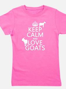Keep Calm and Love Goats Girl's Tee