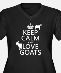 Keep Calm and Love Goats Plus Size T-Shirt