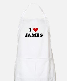 I Love JAMES BBQ Apron
