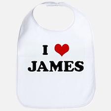 I Love JAMES Bib