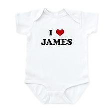 I Love JAMES Infant Bodysuit