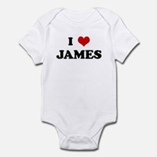 I Love JAMES Infant Bodysuit