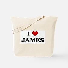 I Love JAMES Tote Bag
