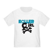 Rollergirl Skull Logo Blue T