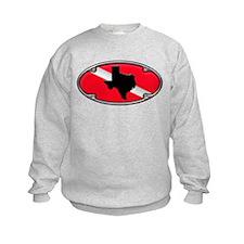 Texas Framed Dive Flag Sweatshirt