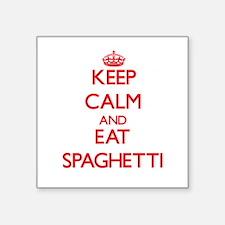 Keep calm and eat Spaghetti Sticker