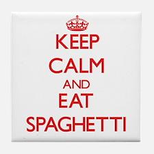 Keep calm and eat Spaghetti Tile Coaster