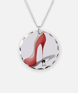 Giant Red Stiletto - Strippe Necklace