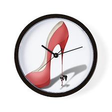 Giant Red Stiletto - Stripper Pole Heel Wall Clock
