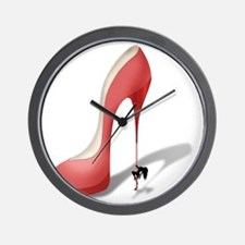 Giant Red Stiletto - Stripper Pole Heel Wall Clock