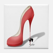 Giant Red Stiletto - Stripper Pole He Tile Coaster