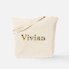 Vivian Bright Flowers Tote Bag