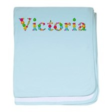 Victoria Bright Flowers baby blanket