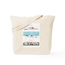 "Keeshond ""Love Joy Peace"" Tote Bag"