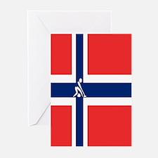 Team Curling Norway Greeting Cards (Pk of 10)