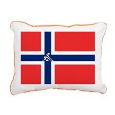 Team Curling Norway Rectangular Canvas Pillow