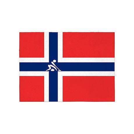 Team Curling Norway 5'x7'Area Rug