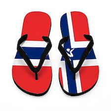 Team Curling Norway Flip Flops