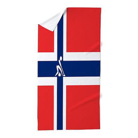 Team Curling Norway Beach Towel