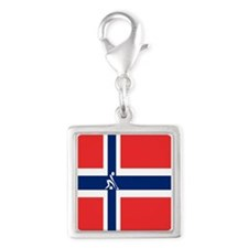 Team Curling Norway Silver Square Charm