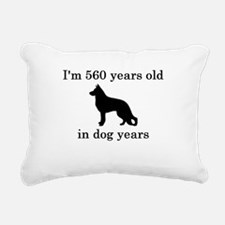 80 birthday dog years german shepherd black Rectan