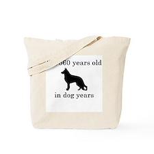 80 birthday dog years german shepherd black Tote B