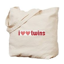 I Heart Heart Twins Tote Bag