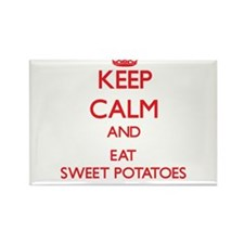 Keep calm and eat Sweet Potatoes Magnets
