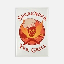 Surrender Yer Grill Red Rectangle Magnet