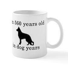 80 birthday dog years german shepherd black 2 Mugs