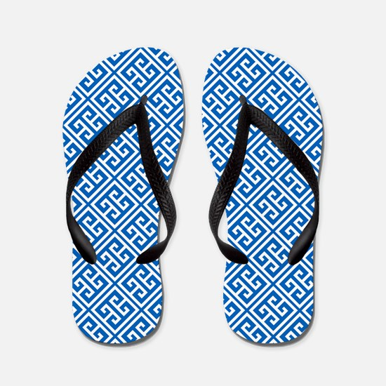Greek Key Pattern Flip Flops