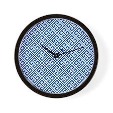 Greek Key Pattern Wall Clock