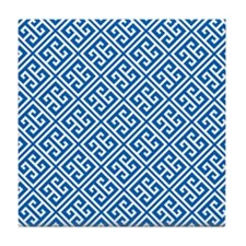 Greek Key Pattern Tile Coaster