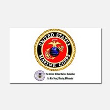 The Marine Corps Remembers! Car Magnet 20 x 12