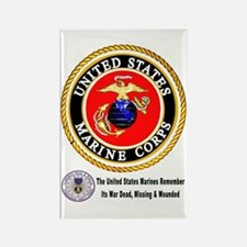 The Marine Corps Remembers! Rectangle Magnet