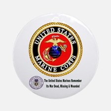 The Marine Corps Remembers! Ornament (Round)