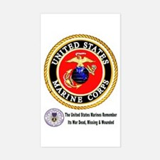 The Marine Corps Remembers! Decal