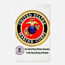 The Marine Corps Remembers! 3'x5' Area Rug